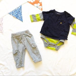 Gap 3-6 Month Shirt And Pants Outfit
